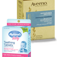 Hyland's Teething Tablet & Aveeno Oatmeal Bath